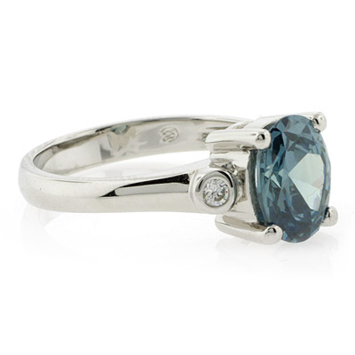 Sterling Silver Solitaire Alexandrite Ring | SilverBestBuy
