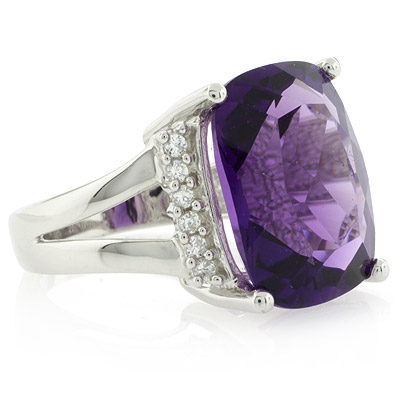 Huge Amethyst Ring