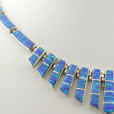 mexican blue opal sterling silver necklace silverbestbuy