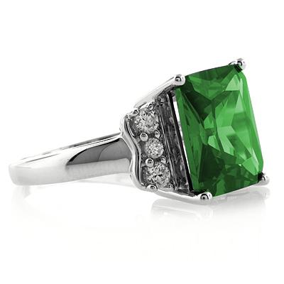 emerald cut emerald ring silverbestbuy