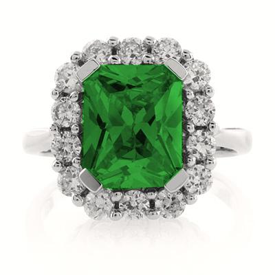 emerald sterling silver ring silverbestbuy