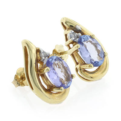 Get Free High Quality Hd Wallpapers 14k Yellow Gold Tanzanite Earrings