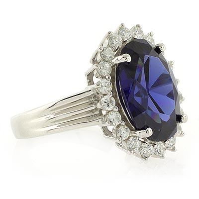 princess kate style sapphire silver ring silverbestbuy