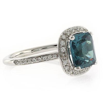Alexandrite Stone MicroPave Silver Ring | SilverBestBuy