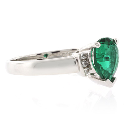 emerald promise silver ring silverbestbuy