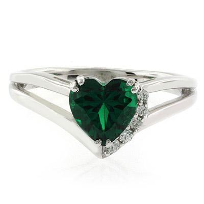 shape emerald promise ring silverbestbuy
