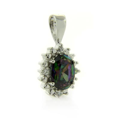 Topaz Necklace on Silver Jewelry Pendants Mystic Topaz Pendants Mystic Topaz Pendant