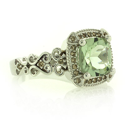 Green Wedding Rings on Silver Jewelry Rings Genuine Green Amethyst Silver Ring