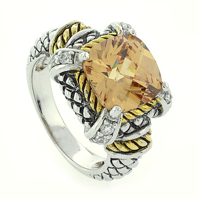 Designer inspired silver ring with citrine silverbestbuy for David yurman inspired jewelry rings