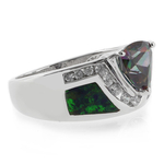 Mystic Topaz Australian Opal Silver Ring