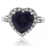 Heart Cut Color Change Alexandrite Silver .925 Ring