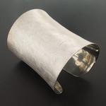 Sterling Silver Sand Scratched Bracelet
