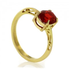 14K Gold Fire Cherry Opal Ring One of a Kind