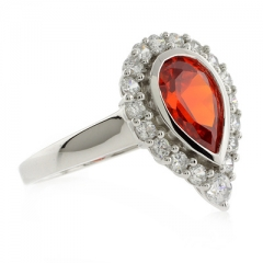 Sterling Silver Fire Cherry Opal Ring