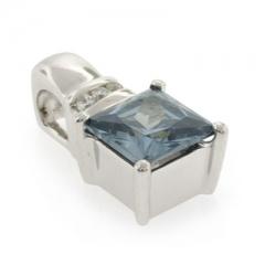 Square Cut Alexandrite Sterling Silver Pendant
