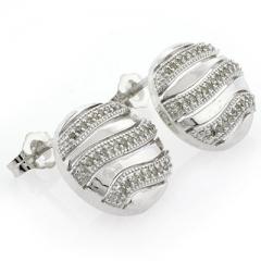 Sterling Silver Genuine Diamond Earrings