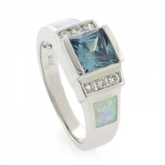 Alexandrite Opal Sterling Silver Ring