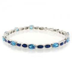 Sterling Silver .925 Opal Bracelet