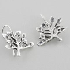 Sterling Silver Tree Earrings