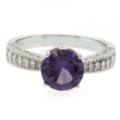 Alexandrite Sterling Silver Ring