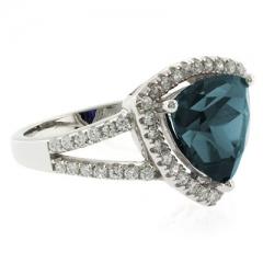 Trillion Cut Big Alexandrite Ring