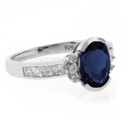 Oval Cut Channel Setting Sapphire Ring