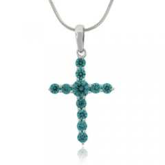 Alexandrite Color Changing Cross Pendant