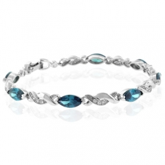Alexandrite Color Change Sterling Silver Bracelet
