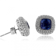 Alexandrite High Quality Sterling Silver Earrings
