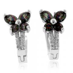 Beautiful Mystic Topaz Silver Earrings