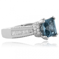 Majestic Aquamarine Sterling Silver Ring
