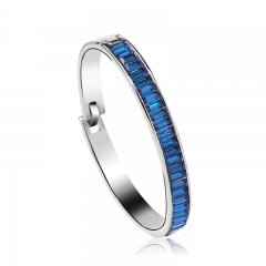 Swarovski Elements 18K Gold Plated Blue Bangle
