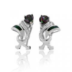 Very Elegant Australian Opal Mystic Topaz Earrings