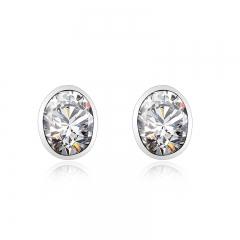 Amazing White Swarovski Crystal Earrings