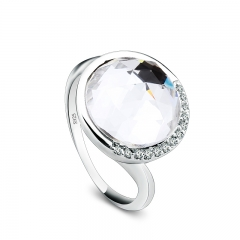 Beautiful White Swarovski Crystal Ring