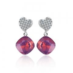Swarovski crystals Earrings Amethyst Opal Color
