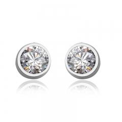 White Sterling Silver Swarovski Earrings