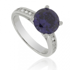 Solitaire Tanzanite .925 Silver Ring