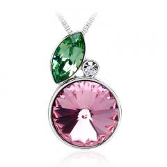 Pink Lemon Swarovski Crystal Necklace