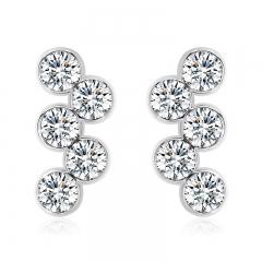 White Swarovski Crystal Earrings