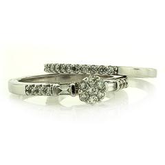 14K White Gold Diamond Ring 0.50 Carat