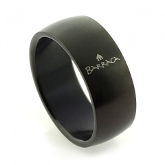 Barraca Black Stainless Steel Ring