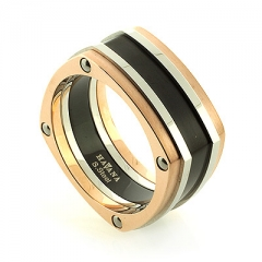 Havana Stainless Steel Square Ring