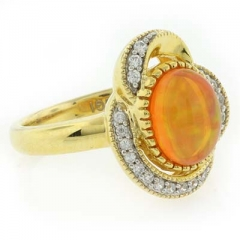 Quality Fire Jelly Opal Ring