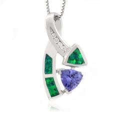 Stunning Piece Of Blue Opal Tanzanite Pendant