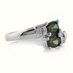 Mystic Topaz Silver Ring Great Price