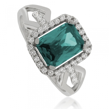 Color Changing Alexandrite Silver Ring