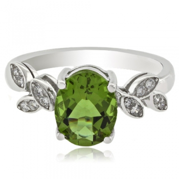 Oval Color Change Alexandrite .925 Silver Ring