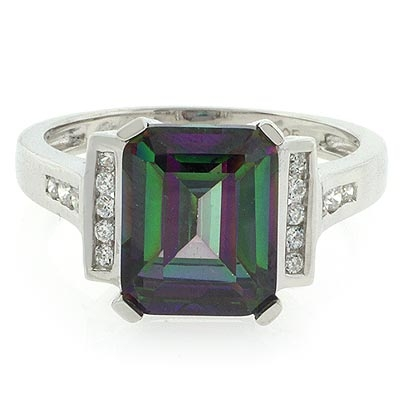 Mystic cut Emerald topaz rings pictures recommend to wear for winter in 2019