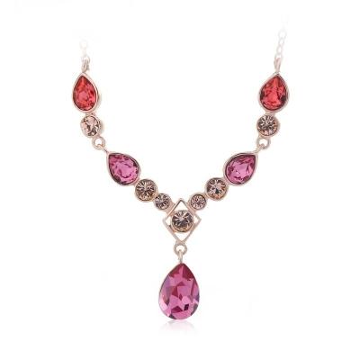Elegant Pink Swarovski Necklace